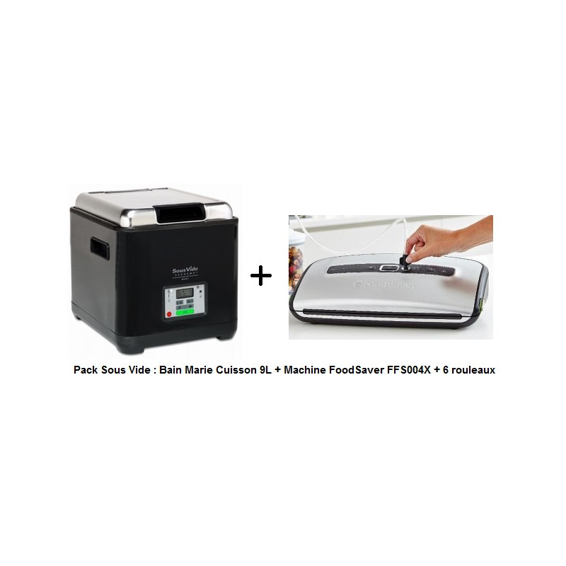 Pack SousVide : Bain Marie Cuisson + Machine FoodSaver + Rouleaux
