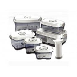 Pack de 4 boîtes plus une pompe manuelle sans BPA