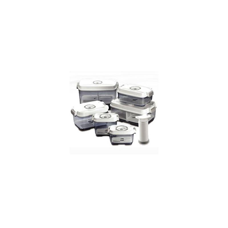 pack de 6 bo tes plus une pompe manuelle sans bpa emballage sous. Black Bedroom Furniture Sets. Home Design Ideas