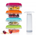 Baby Food : Pack 4 boîtes sous vide+pompe manuelle sans BPA