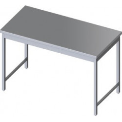 Table centrale inox 800 x 600 x 900 h