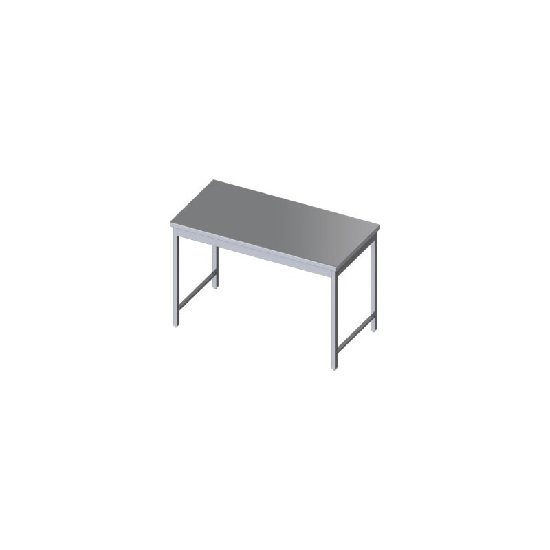 Table centrale inox inox table mobilier cuisine for Mobilier cuisine inox