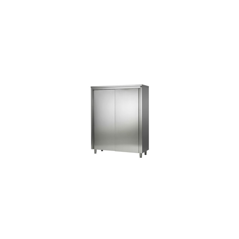 armoire haute inox porte coulissante inox mobilier inox cuisine meuble inox placard inox. Black Bedroom Furniture Sets. Home Design Ideas