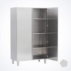 Armoire haute inox portes battantes 1200x600x2000