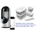 Blender sous vide REMY + 4 boites sous vide Status et pompe manuelle