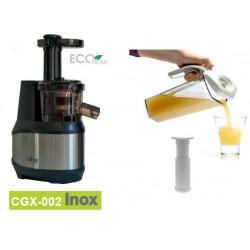 Extracteur de jus CGX-002 Inox + Carafe sous vide Status avec la pompe manuelle